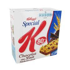 Barres de céréales Spécial K chocolat (au lait ou noir)