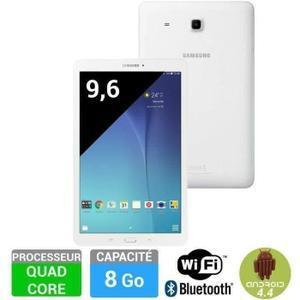 """Tablette 9.6"""" Samsung Galaxy Tab E 8 Go - Blanc"""