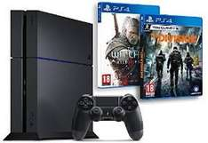 Pack Console Sony PS4 1 To (Châssis C) + The Division + The Witcher 3 : Wild Hunt