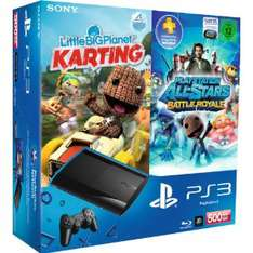 Console PS3 Super slim 500Go + LittleBigPlanet Karting + All-Stars Battle Royale