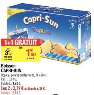 2 paquets de Caprisun (1+1 gratuit)