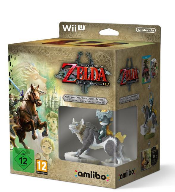Pack The Legend of Zelda: Twilight Princess HD sur Wii U + Amiibo The Legend of Zelda - Link Loup + Bande son