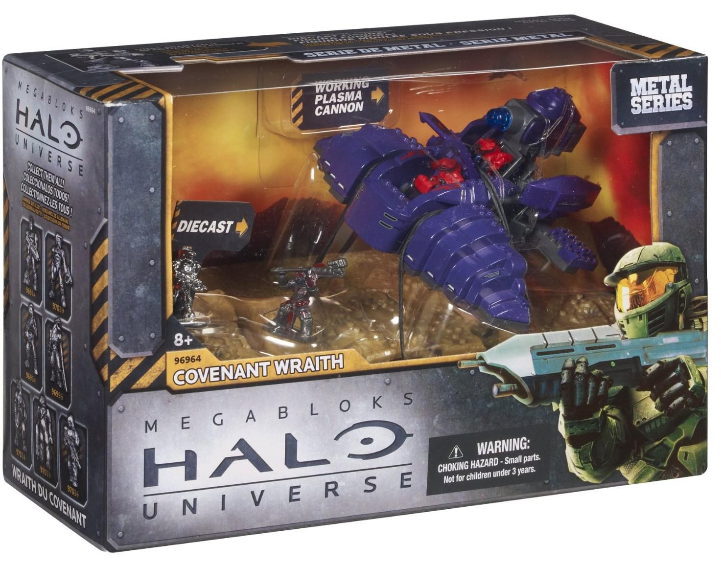 Mega Bloks Metal Series Halo Universe Covenant Wraith (6.5€ de port)