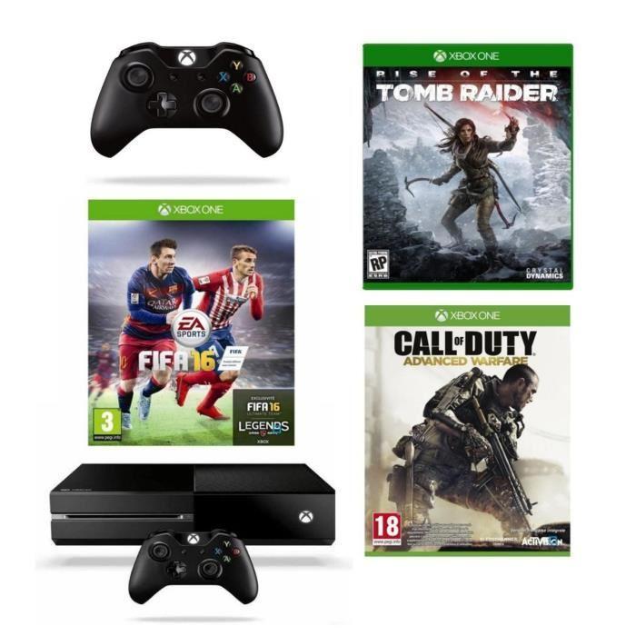 Console Xbox One 1 To + FIFA 16 + Rise of The Tomb Raider + Call of Duty: Advanced Warfare + 2ème Manette + Forza 6 ou Halo 5 + 12 Mois EA Acces