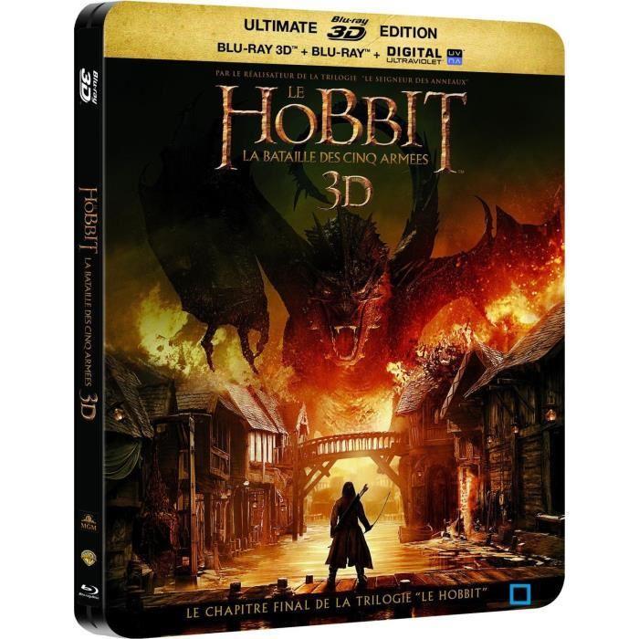 Blu-ray 3D + Blu-ray + Copie digitale : Le Hobbit : La Bataille Des Cinq Armées