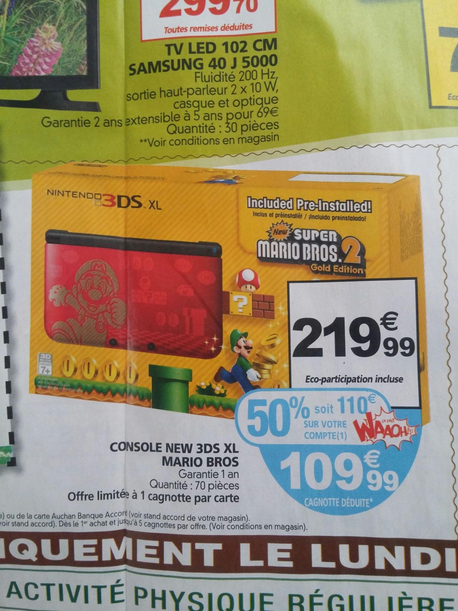 Console 3DS XL Super mario bros 2 (avec 110€ sur la carte)