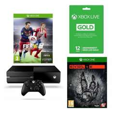 Pack Xbox One 1To + Fifa 2016 + Evolve + Abonnement Gold 1 an + (Rise of The Tomb Raider ou Forza Motorsport 6 Edition Day One ou Halo 5 Guardians)
