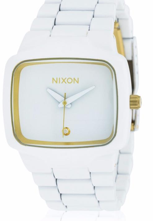 Sélection de Montres Nixon en promo - Ex : Montre Player, cadran blanc 1 diamant, bracelet acier blanc
