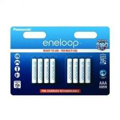 8 piles rechargeables Panasonic Eneloop LR03-AAA (750 mAh) - blanches