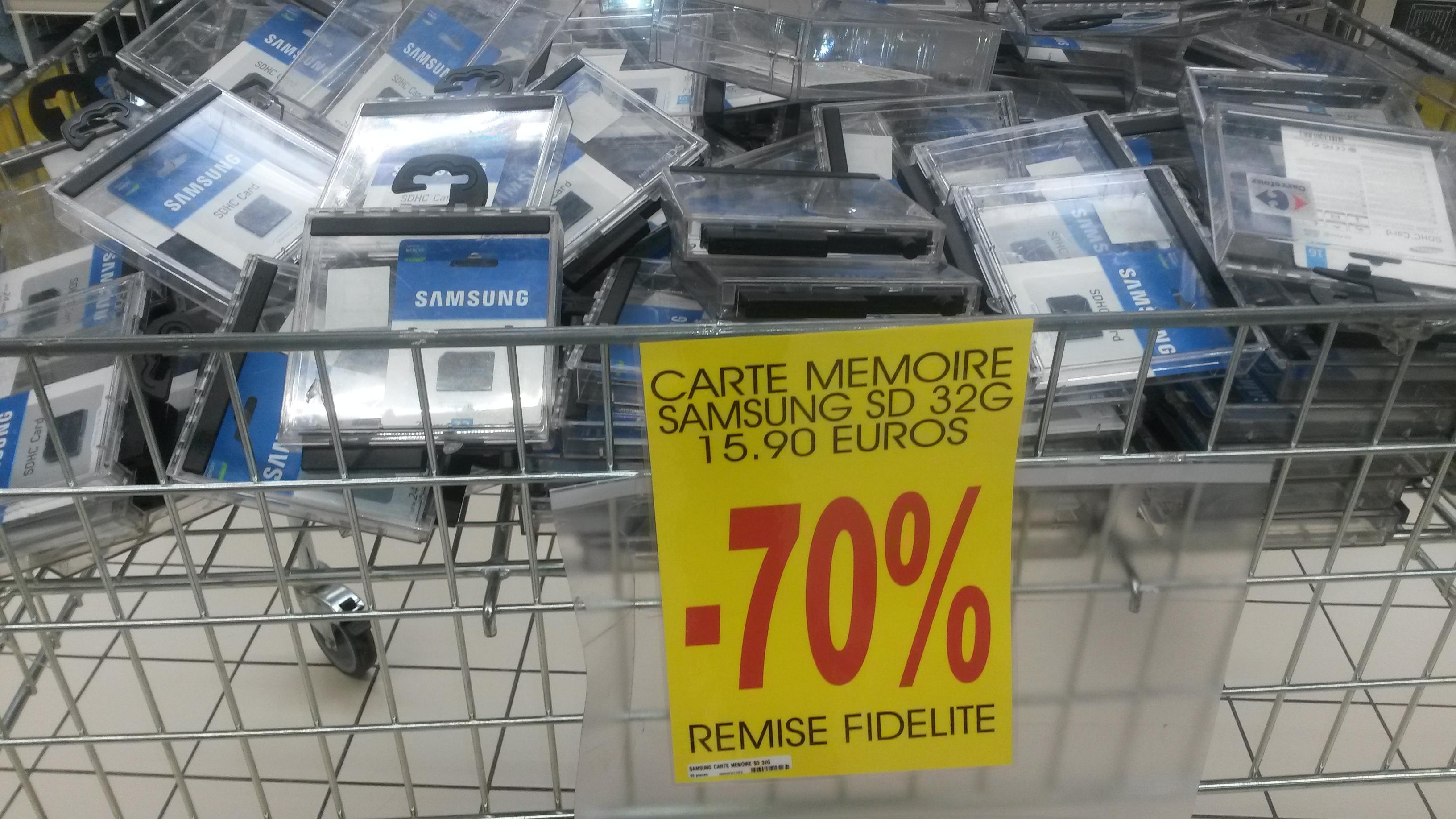 Sélection d'articles de Stockage en promotion - Ex: Cartes SDHC Samsung 32 Go