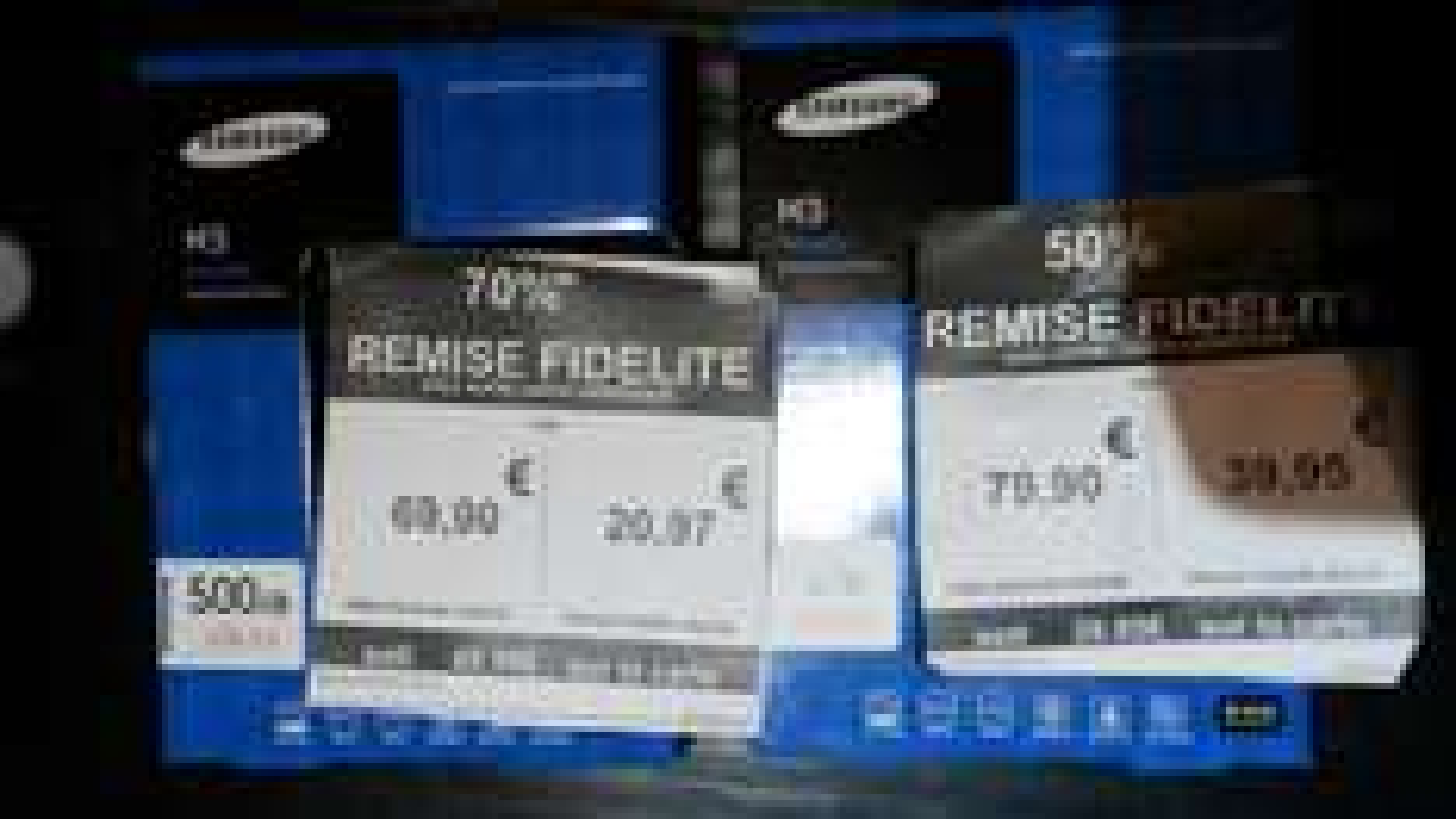 """Promotions sur les Disques durs 2.5"""" Samsung M3 (via remise fidélité jusqu'à 70%) - 500Go à 20,97€ et 1 To"""