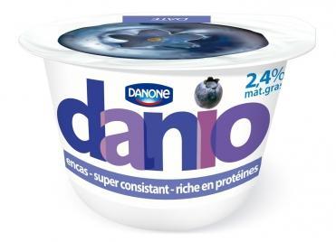 Lot de 4 pots de Danone Danio (via 2+2 et BDR) - 4 x 150g