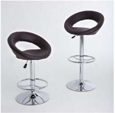 Lot de 2 tabourets de bar chocolat