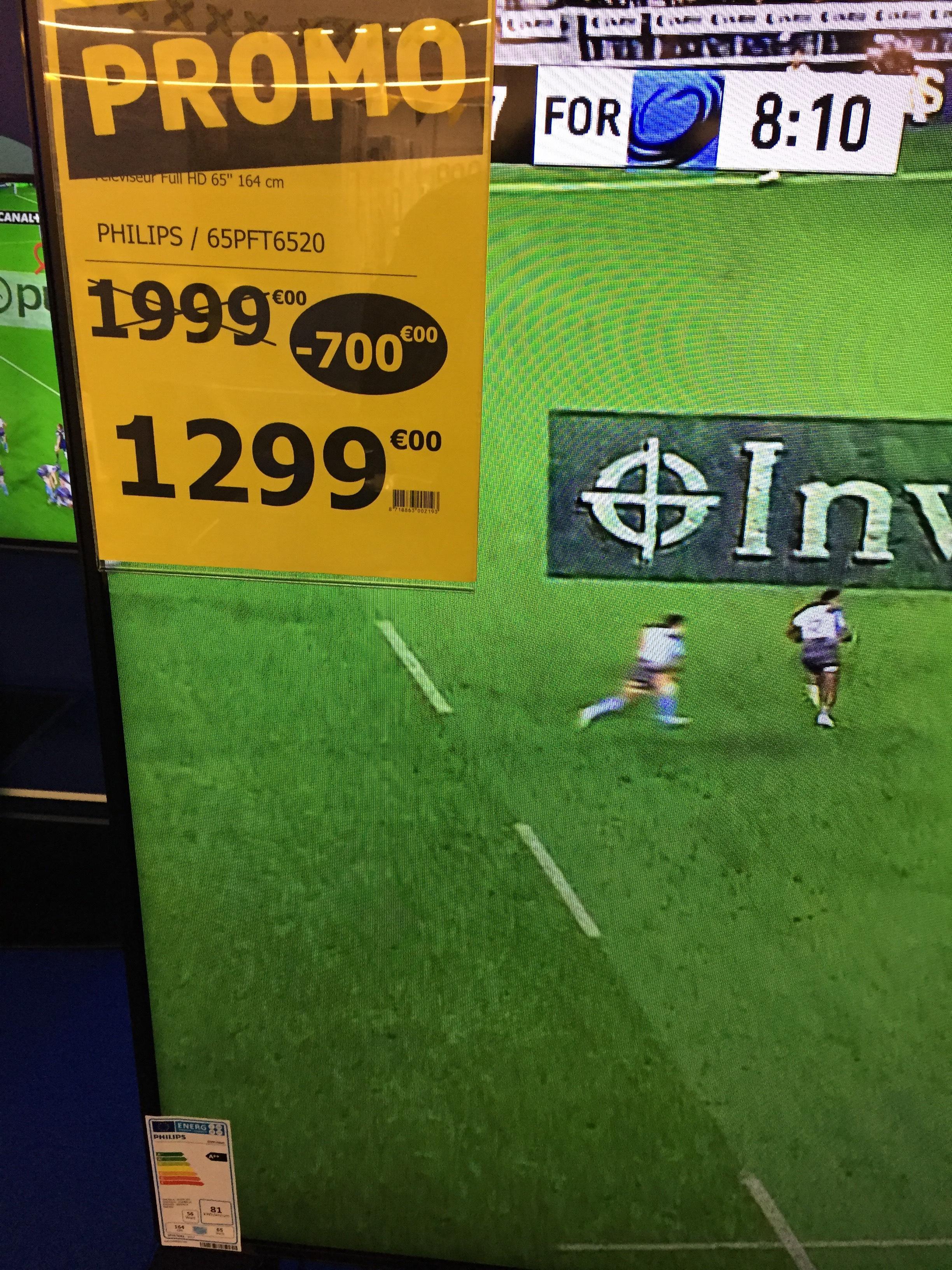 """Jusqu'à 70% de réduction sur une sélection d'articles - Ex : TV 65"""" Philips 65PFT6520"""