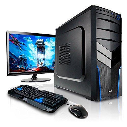 """PC de bureau X85 Hydra (AMD A8-7600, 8 Go RAM, 1 To) + Ecran 22"""" Asus VS228NE + Clavier/Souris Zalman"""