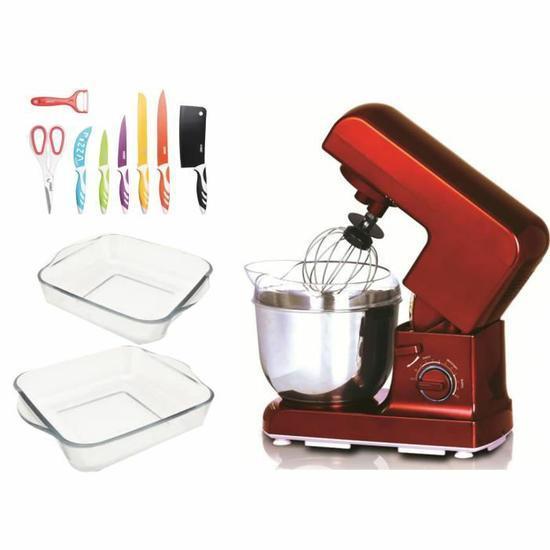 Pack Robot KitchenCook + Set de couteaux + 2 plats en verre