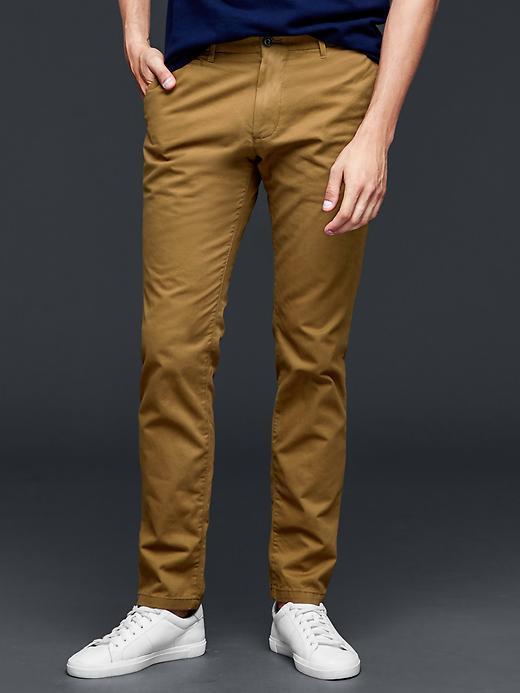 Pantalon Homme Gap Lived-in skinny - Moutarde, 32W, 36L