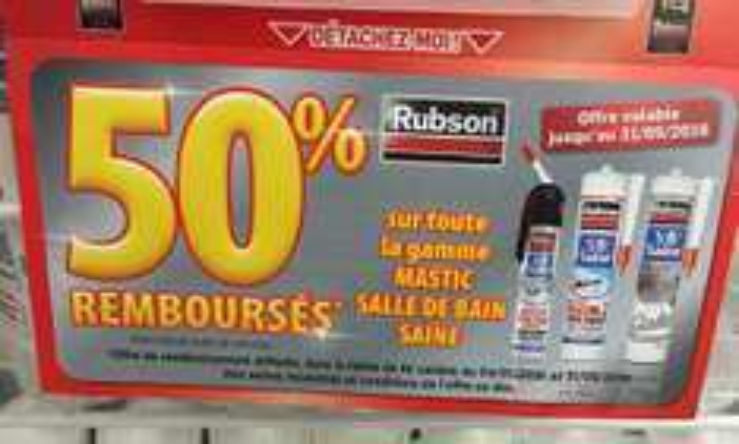 Silicone Rubson pour salle de bain (via ODR de 5.77€)