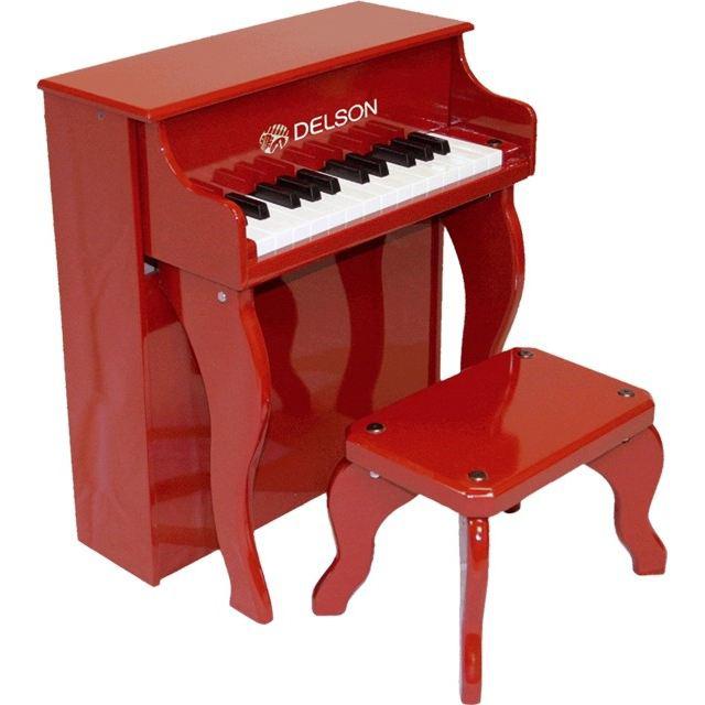 Jouet musical Piano droit enfant rouge