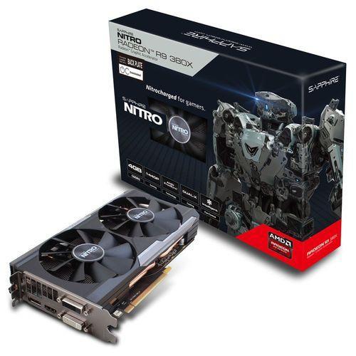 Carte graphique Sapphire Radeon R9 380X NITRO Dual-X OC (UEFI), 4 Go + jeu offert