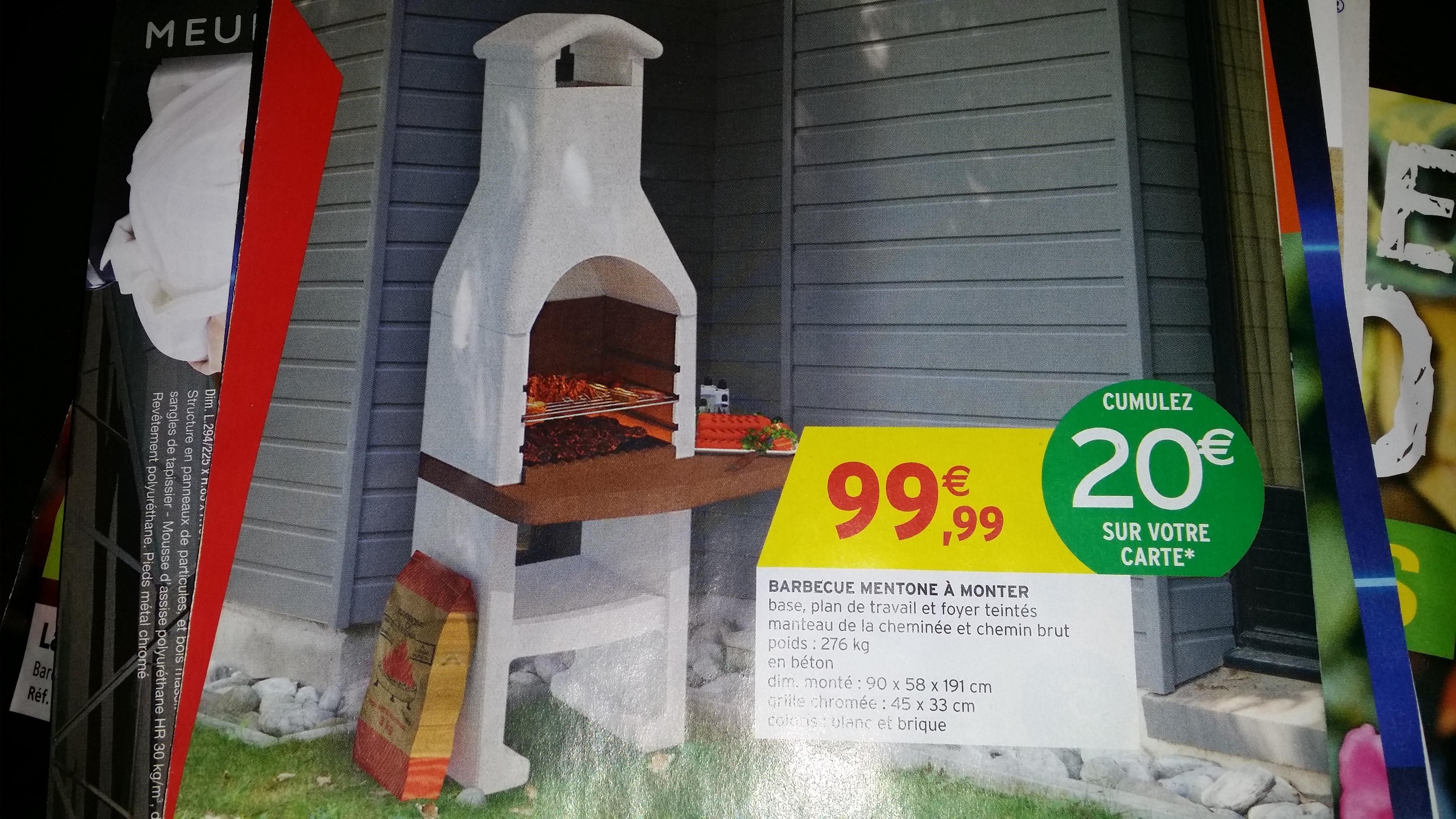 Barbecue Mentone à monter (avec 20€ sur la carte)