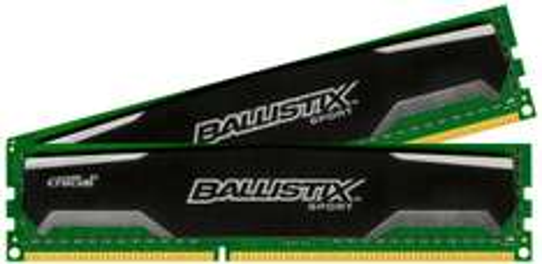 Kit mémoire DDR3 Crucial Ballistix Sport 2 x 8 Go (16 Go) - 1600 MHz, Cas 9