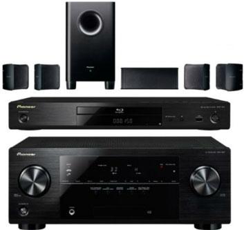 Pack home cinéma Pioneer Amplificateur VSX-527 + lecteur Blu-ray 3D BDP-150-K + pack 5.1 S-HS100