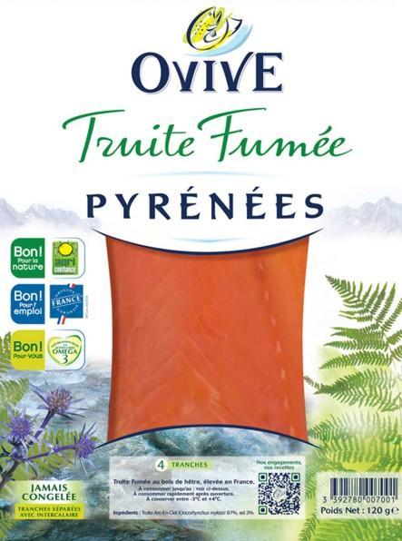 3 Lots de 4 tranches de truite fumée Ovive Aquitaine (via Shopmium)