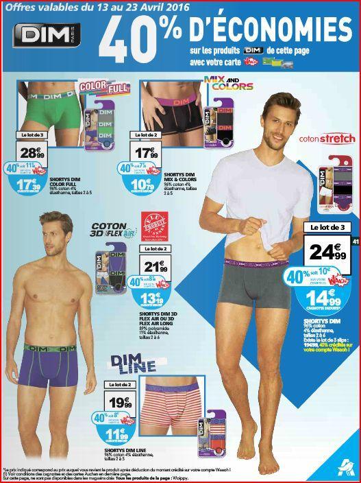 Sélection de produits Dim homme et femme en promotion - Ex : 2 Shorty Mix and Colors (via 7.20€ carte fidélité)
