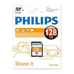 Carte mémoire SDXC Philips Classe 10 - 128 Go