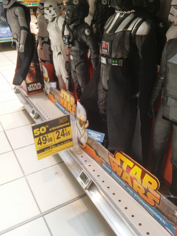 Figurines Star Wars en promotion - Ex: Figurine Dark Vador (via 50% sur la carte)