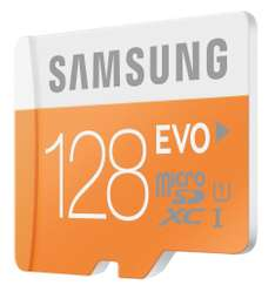 Carte mémoire microSDXC Samsung Evo UHS-I Classe 10 - 128 Go avec adaptateur