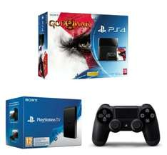 Pack Console Sony PS4 500 Go + God of War III Remastered + 2ème Manette + PS TV