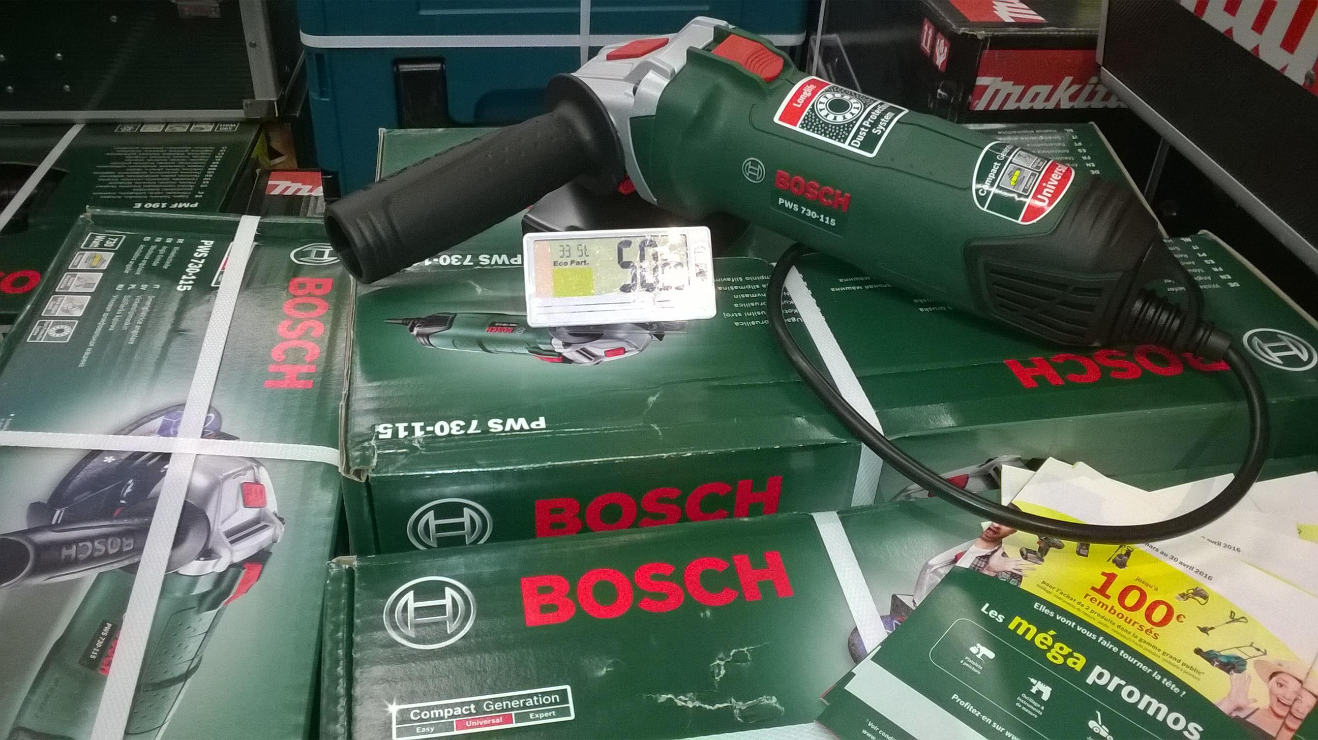 Meuleuse angulaire Bosch PWS730115 (via ODR de 10€)
