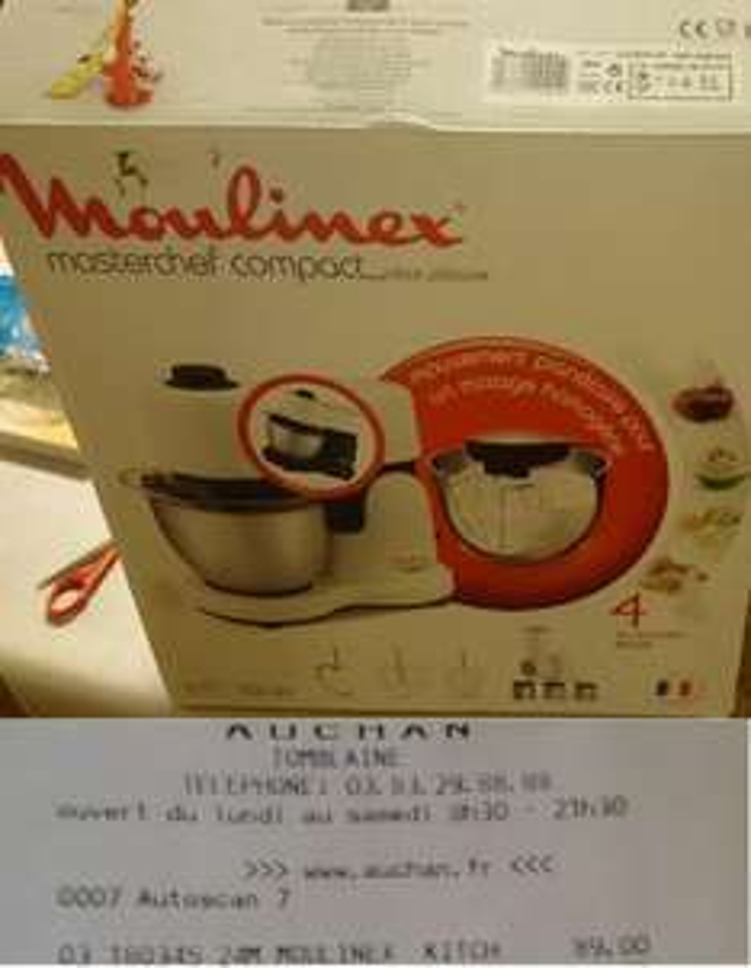 Robot pâtissier Moulinex Masterchef Compact QA203810 - blanc