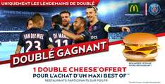 1 Maxi Best Of acheté = 1 Double Cheese offert