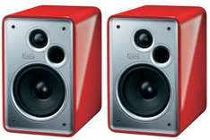 Paire d'enceinte étagére Heco Music Colors 100 2 voies avec bass-reflex 70/120 Watts Piano rouge