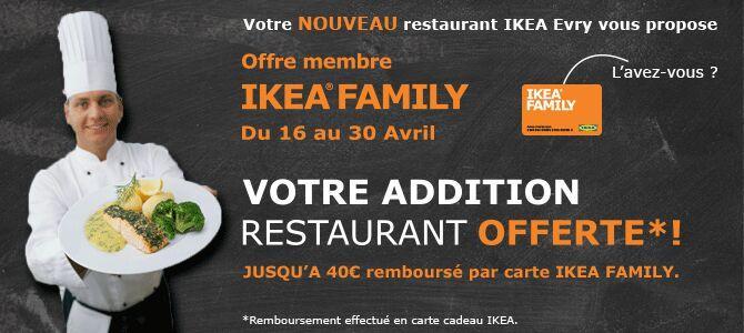 [Ikea Family] Votre addition remboursée en bon d'achat (40€ maximum)
