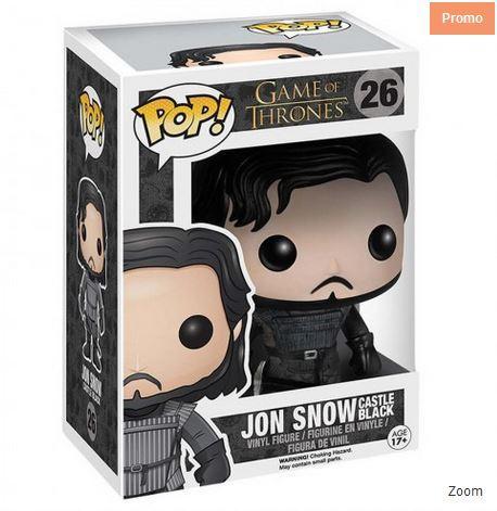 10% de réduction sur les Goodies Game Of Thrones - Ex : Figurine Pop! (plusieurs modèles)