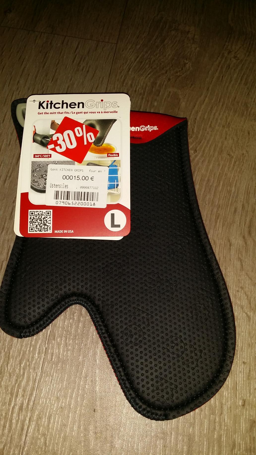 30% de réduction sur les accessoires de cuisine - Ex : Gant Kitchen Grips à four en Flxaprene Standard 28cm