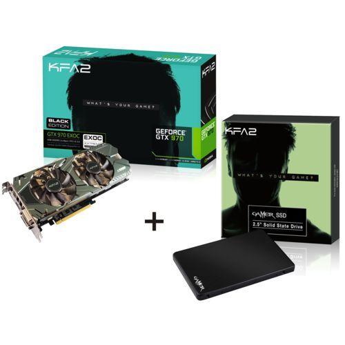 Carte graphique KFA2 GeForce GTX 970 EXOC Black Edition - 4 Go + SSD Gamer L KFA2 -  120 Go (MLC)