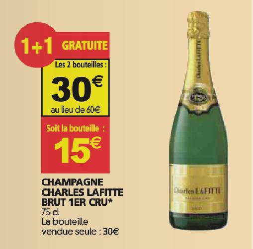 Lot 2 de bouteilles de Champagne Charles Laffite