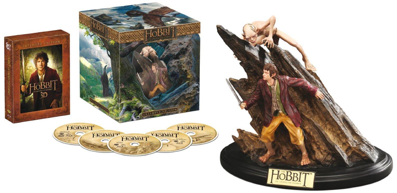 Coffret Blu-ray 2D/3D Le Hobbit : Un Voyage Innatendu (Pas de français) + Statue