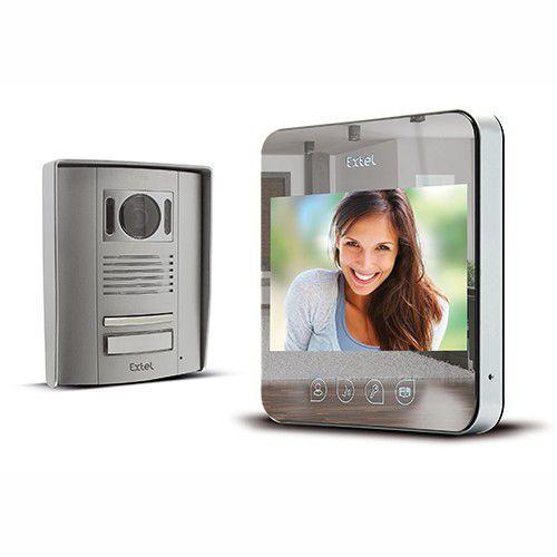 Interphone vidéo filaire effet miroir Extel - Quattro²