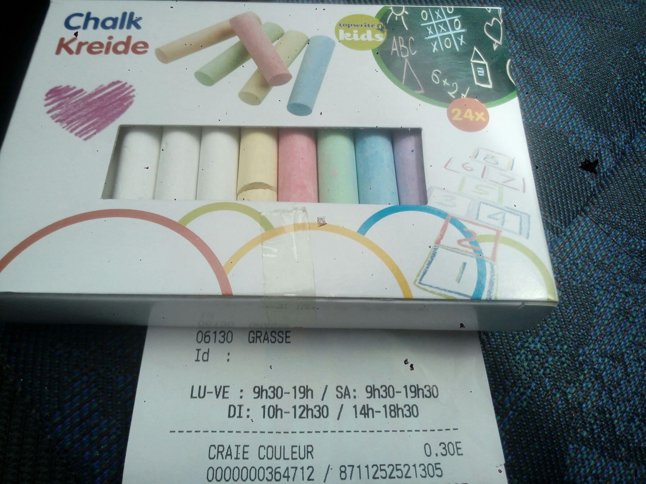 Boîte de 24 craies couleurs