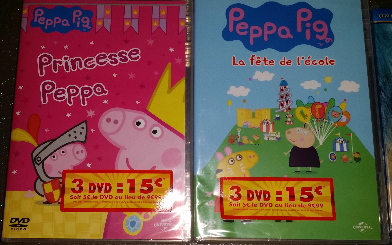 3 DVD Peppa pig parmi une sélection