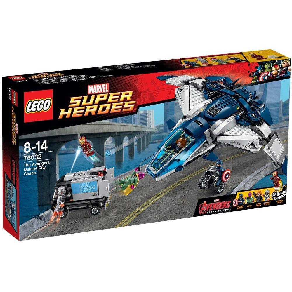 Jeu de Construction Lego Super Heroes Marvel - 76032 La poursuite du Quinjet des Avengers