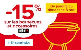 15% de réduction sur les barbecues et accessoires Weber