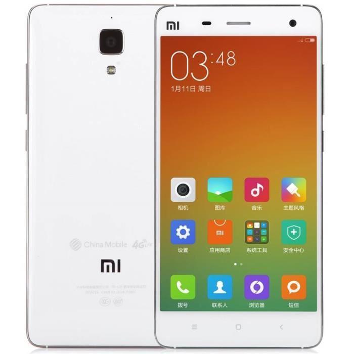 """Smartphone 5"""" Xiaomi Mi4 4G Blanc - RAM 2 Go, 16 Go"""