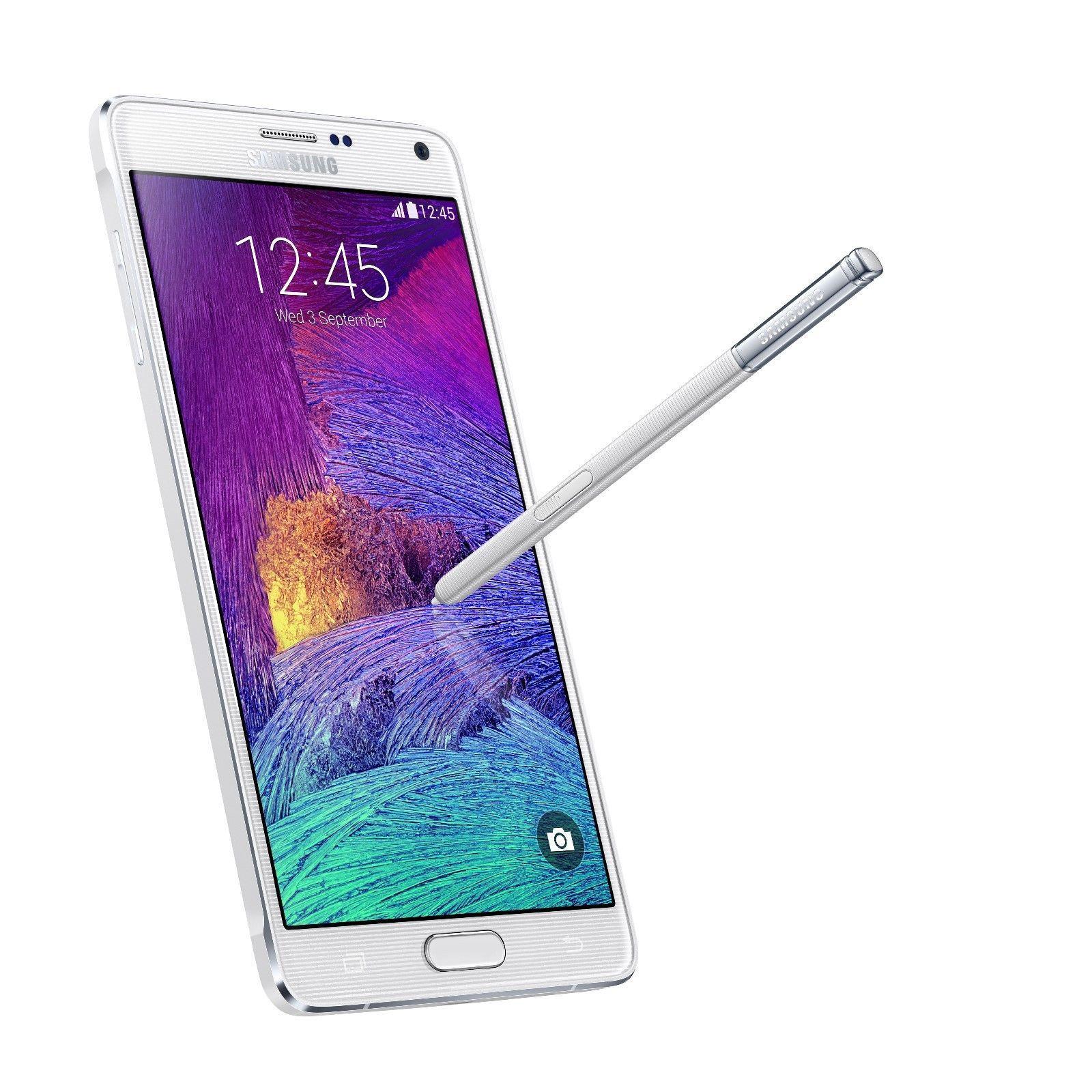 "Smartphone 5.7"" Samsung Galaxy Note 4 N910V - 32 Go, Blanc (Livraison et taxes comprises)"